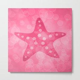 Starfish in Blush Pink Metal Print
