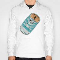 vans Hoodies featuring Cute blue teal Vans all star baby shoes iPhone 4 4s 5 5s 5c, ipod, ipad, pillow case and tshirt by Three Second