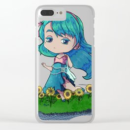 Nature goddess Clear iPhone Case