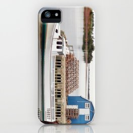 Lobster Boat and Traps iPhone Case