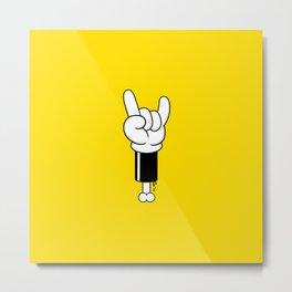 Toon Rock Metal Print