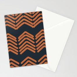 Zora's Chevron Pattern - Copper on Navy Stationery Cards