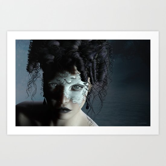 Midnight masquerade Art Print