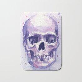 Skull Watercolor Skulls Bath Mat