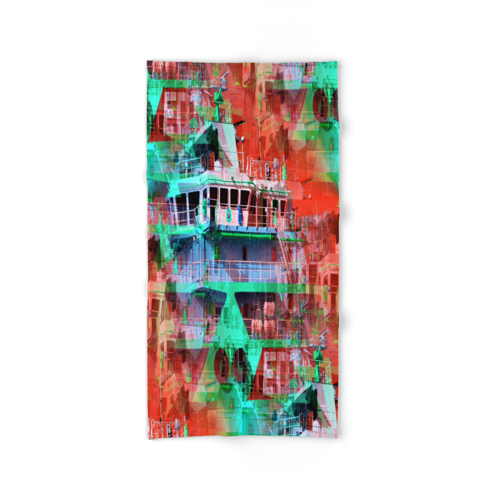 S H I P S H A P E S Bath Towel by davidgough