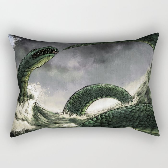 The Midgard Serpent Rectangular Pillow