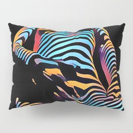 1813s-AK Zebra Striped Woman Hand on Pubis Rendered Composition Style by Chris Maher Pillow Sham