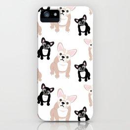 Cute French Bulldog Pattern iPhone Case