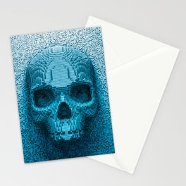 Pixel skull Stationery Cards