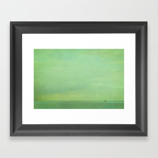 lost in green Framed Art Print