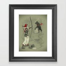 Little Red Robin Hood Framed Art Print