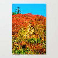 hiking Canvas Prints featuring Hiking by Ammar ZABOUN