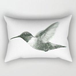 Ruby-Throated Hummingbird Drawing Rectangular Pillow