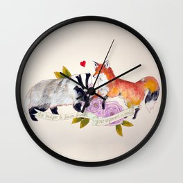The Badger and Fox are Friends... Wall Clock