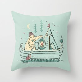 Bearly There Throw Pillow