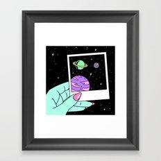 WISH U WERE HERE Framed Art Print