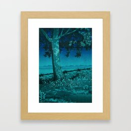 Nightime in Gissei Framed Art Print