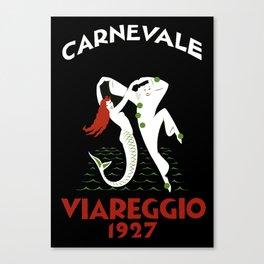 Viareggio Italy - Vintage Travel Canvas Print
