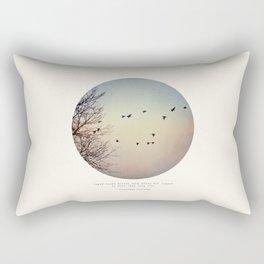 Caged Birds Rectangular Pillow