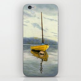 The Little Yellow Sailboat iPhone Skin