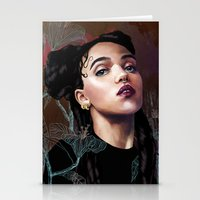 fka twigs Stationery Cards featuring FKA Twigs by Feline Zegers