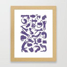 Ultra Violet Cats Framed Art Print