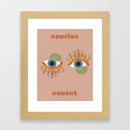 sunrirse~sunset Framed Art Print