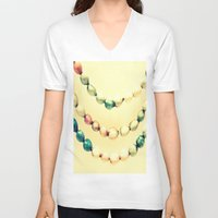 pastel V-neck T-shirts featuring pASTel Vintage Beads by 2sweet4words Designs