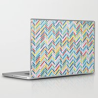 herringbone Laptop & iPad Skins featuring Herringbone Colour by Project M