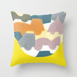 The Busy Street Throw Pillow