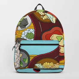 Japanese Veggie Platter Backpack