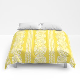 Cable Row Yellow Comforters
