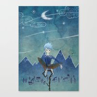 jack frost Canvas Prints featuring Jack Frost by Serena Rocca