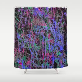 colourful splatters  Shower Curtain