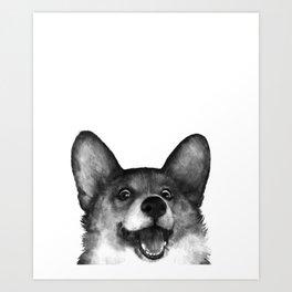 Corgi Art Print