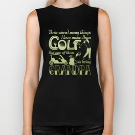 Golf Grandpa Biker Tank