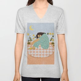 Parisian chic Unisex V-Neck