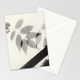 Forgotten Leaves on Plastic Roof Abstract Stationery Cards
