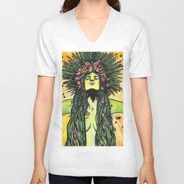 Green Goddess Unisex V-Neck
