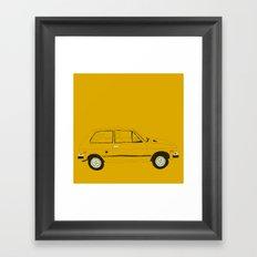 Yugo —The Worst Car in History Framed Art Print