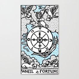 Modern Tarot Design - 10 Wheel of Fortune Canvas Print