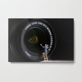 Keeping the Lenses Clean Metal Print