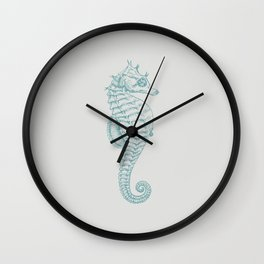 Tropical Seahorse (Horsefish) - Blue Wall Clock