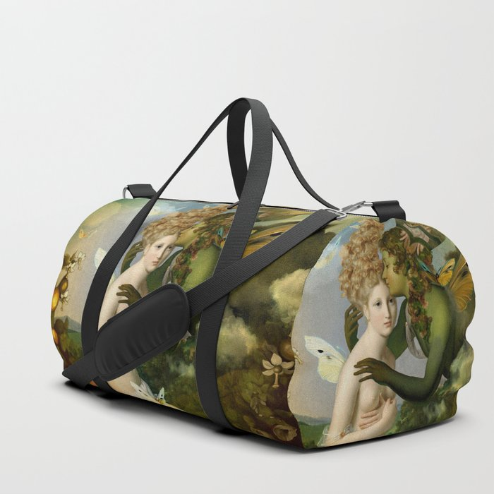 """""""The body, the soul and the garden of love"""" Duffle Bag"""