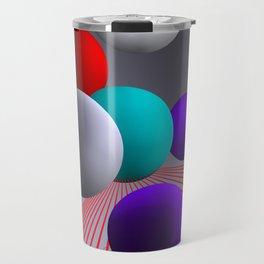 converging lines and balls -2- Travel Mug