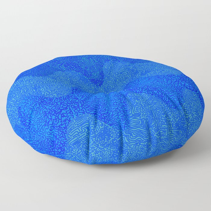 Under the Influence (Marimekko Curves) Feeling Blue Floor Pillow