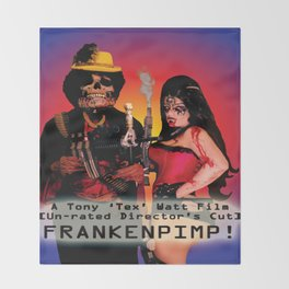 Frankenpimp (2009) - Movie Poster Throw Blanket
