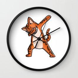 Funny Dabbing Bengal Cat Pet Dab Dance Wall Clock