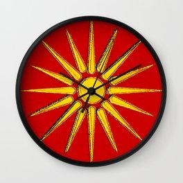 Macedonia Map with Macedonian Flag Wall Clock