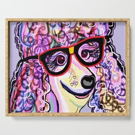 Hipster Poodle Serving Tray